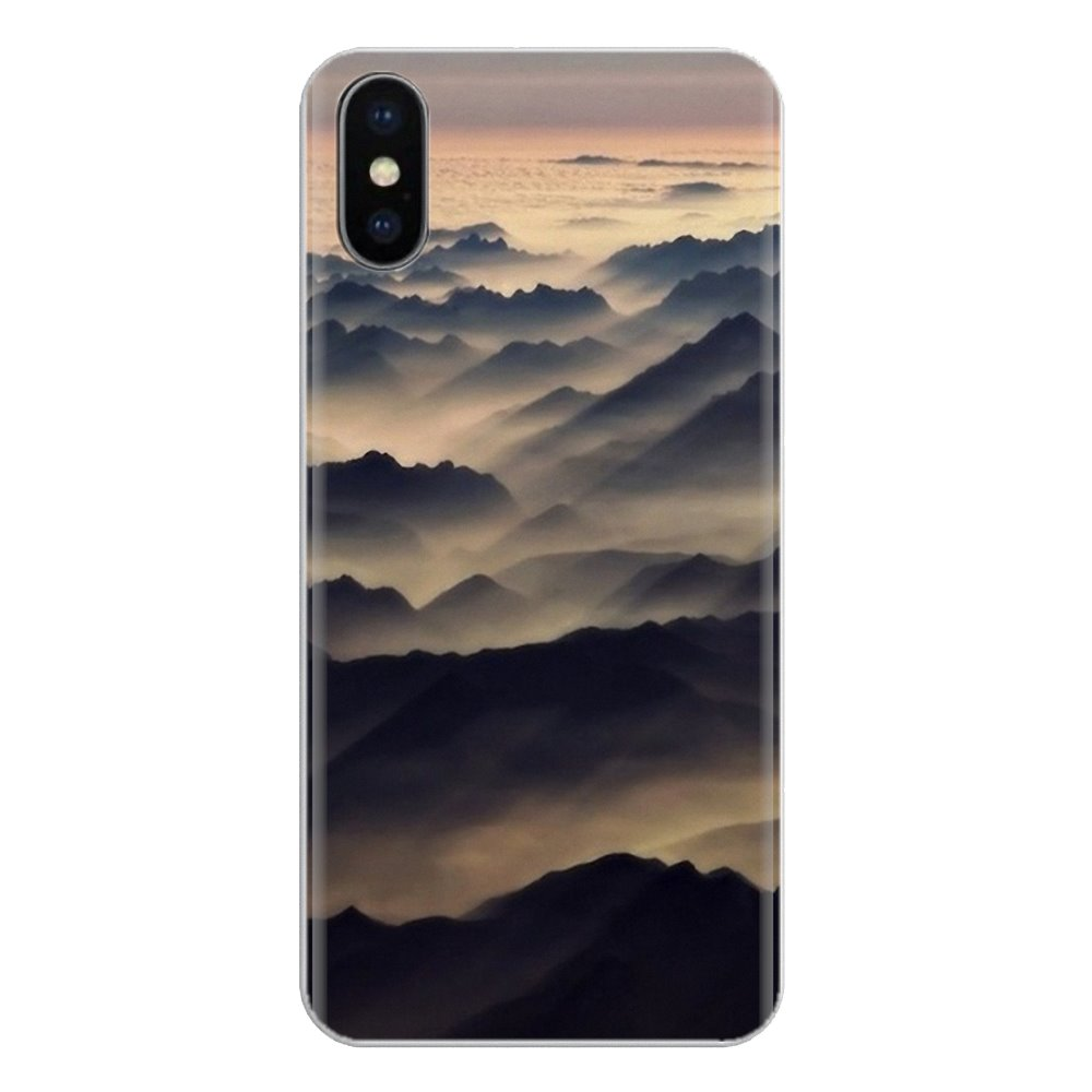For Xiaomi Mi6 <font><b>Mi</b></font> 6 A1 Max Mix 2 5X 6X Redmi Note 5 5A 4X 4A <font><b>A4</b></font> 4 3 Plus Pro mountain mist black and white design Soft Skin Case image