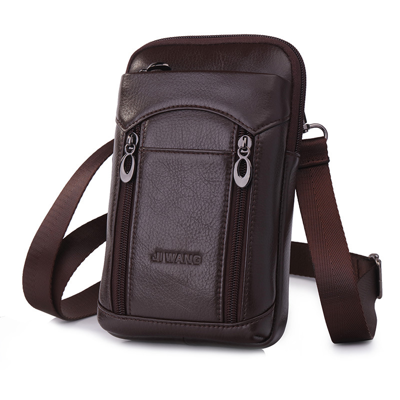 New Style Men's Running Bag Wear Leather Belt Verticle Multi-functional Phone Bag Mini Shoulder Shoulder Bag Outdoor Sports Back