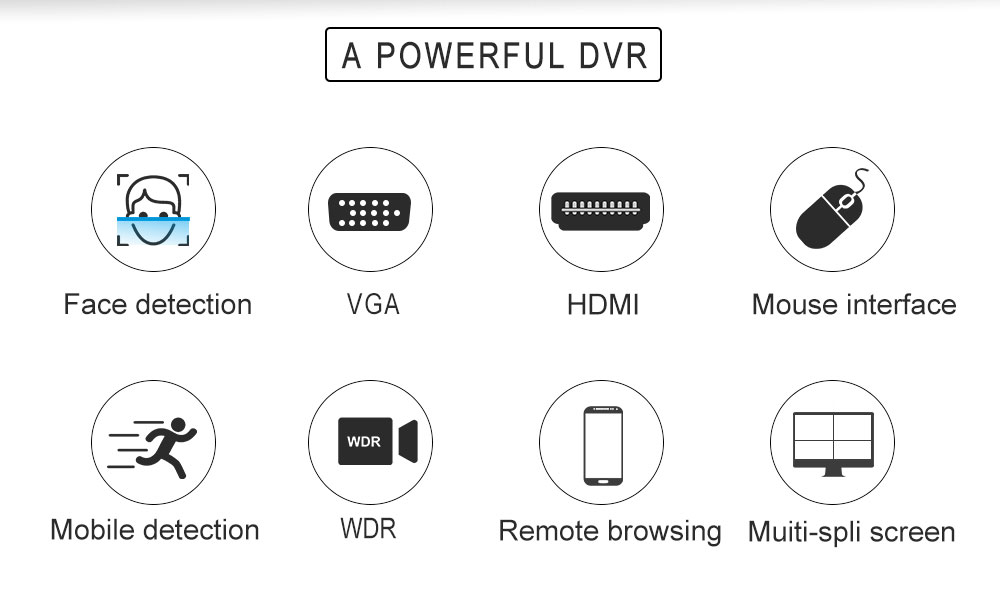 H8bd499df33e3479ca745b8190a139f62P - HD 5MP DVR 4Channel CCTV AHD DVR Hybrid DVR 5in1 Video Recorder with 960P MINI Security camera with OSD menu and 5-Axis bracket