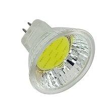 1x pode ser escurecido conduziu a luz do ponto gu4 5w 7w ac dc 12v mr11 conduziu a lâmpada cob chip 45 ângulo de feixe spotlight lâmpada led para lâmpada de mesa downlight