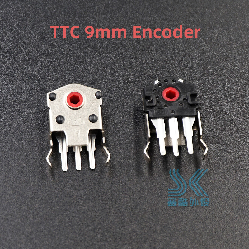 2pcs Original TTC Mouse Encoder Highly Accurate 9mm Red Core Solve Sensei RAW RIVAL 100 310 G403 G603 G703  Roller Wheel Problem