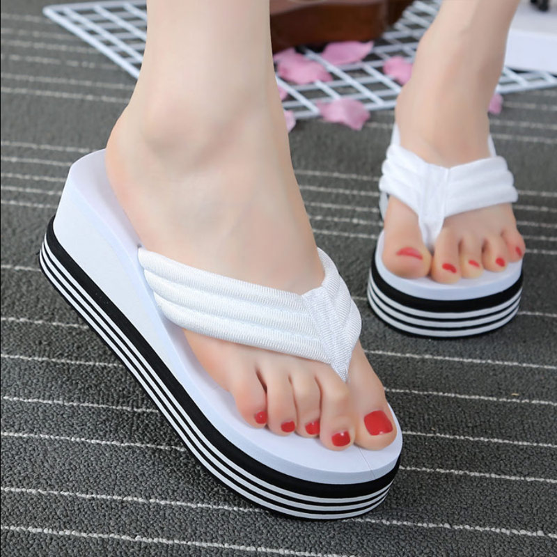 Women's Summer Shoes Flip-flops Platform Slippers Thickened Non-slip Wear-resistant Comfortable Slippers Woman