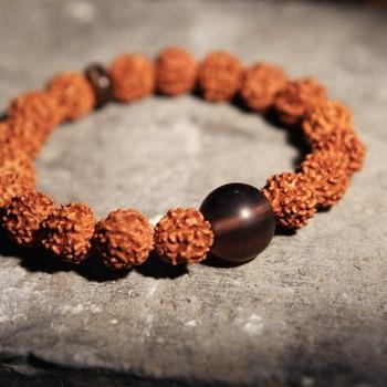 Rudraksha Vajra Bodhi Bracelets Men Meditation Mala Crystal Beads Bracelets Jewelry Prayer Chakras Tibetan Buddhism Bracelet цена 2017
