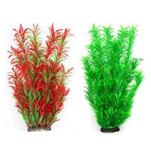 Aquarium Plants Fish Tank Plants Artificial Water Aquatic Tall Plant Red Green Big for Fish Frog Tank Decorations