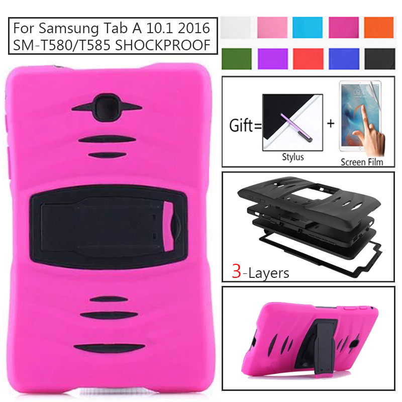 <font><b>Case</b></font> For Samsung Galaxy Tab A <font><b>10.1</b></font> T580 T585 T587 SM-T585 Cover <font><b>Kids</b></font> Safe Colorful With Function <font><b>Tablet</b></font> Protection Shell Coque image
