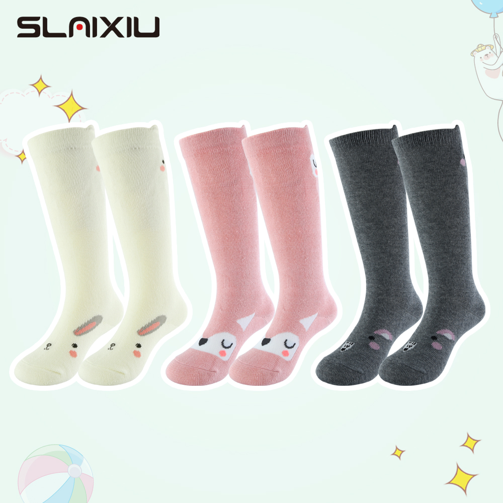 3 Pair/Lot Baby Stockings Girls Suitable For 0-48 Months Girls Boy Baby