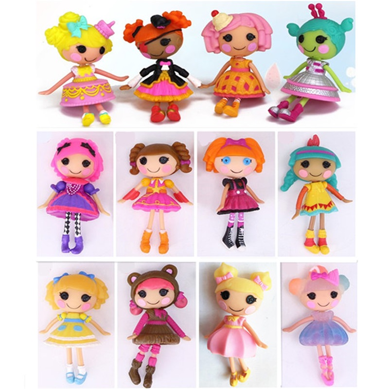 Wholesale 4pcs/lot 3inch Lalaloopsy Dolls Accessories Mini Dolls For Girl's Toy Play House Each Unique
