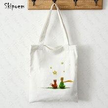 The Little Prince Women Shopping Canvas Tote Bags Harajuku Gothic Art Large Capacity Vintage Painting Handbags Handbag
