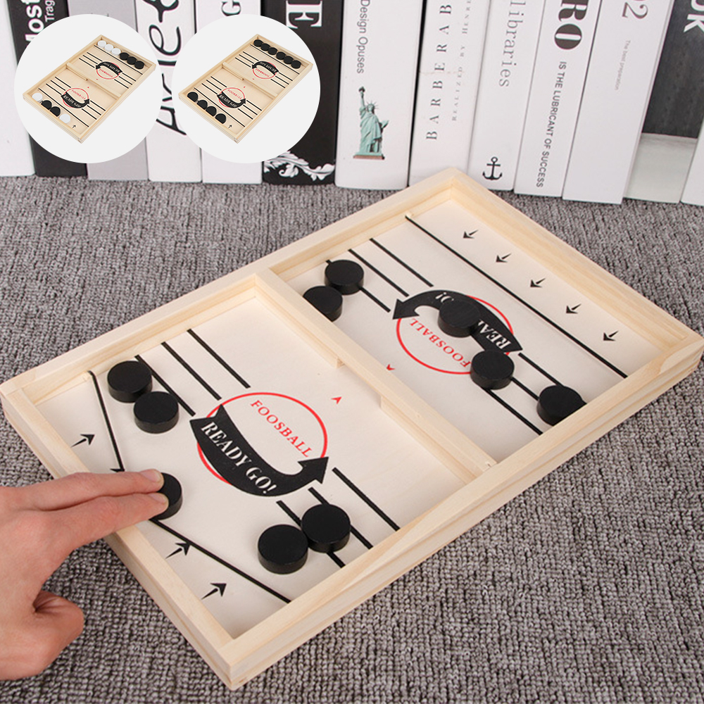 Foosball Games Super Winner Sling Puck Game Fun Toys Board-Game table desktop battle 2 in 1 ice hockey game Toys For Adult Child-0