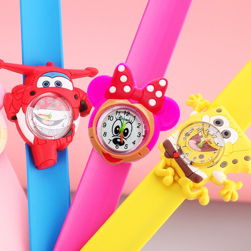 SpongeBob / Minnie Children Watches Kids Quartz Wristwatches Waterproof Jelly Kids Watches Clock Boys Girls Students Child Watch