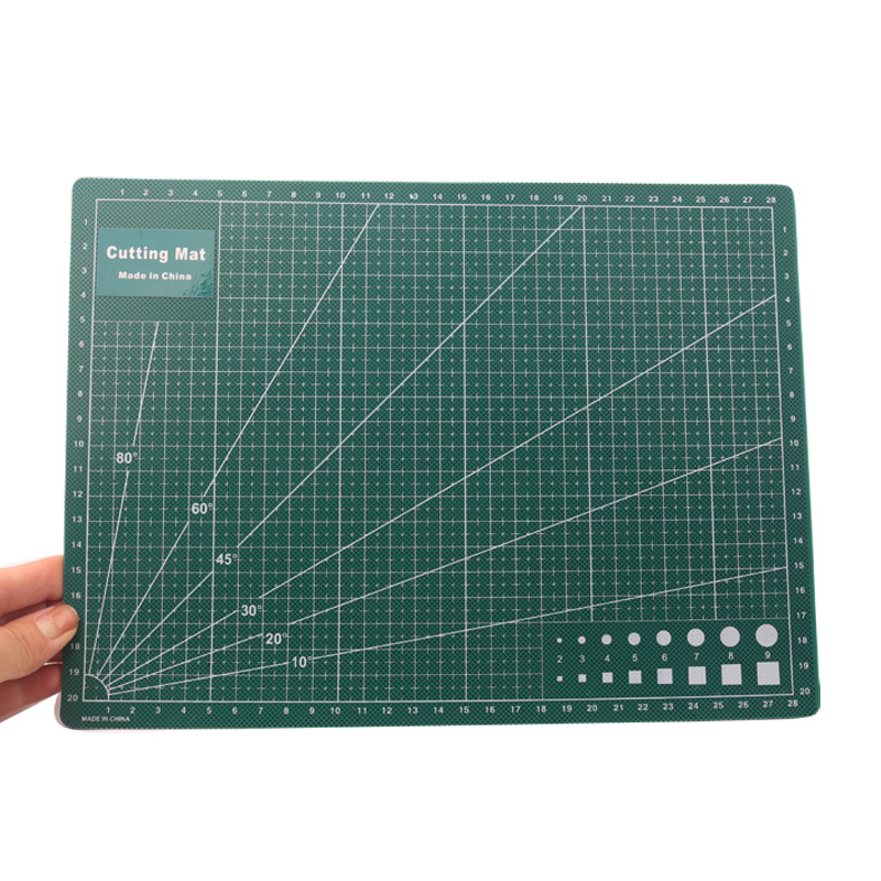 A4 Patchwork Ruler Handmade DIY Clay Craft Engraving Board Soft Clay Ruler Crafting Double Sided Cutting Mat School Supplies