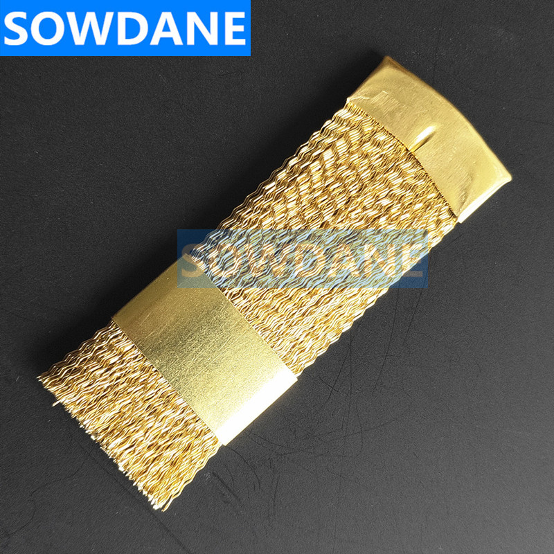 Dental Material Copper Flat Brush For Clean Burs , Copper Material,  Dentist Cleaning Tool