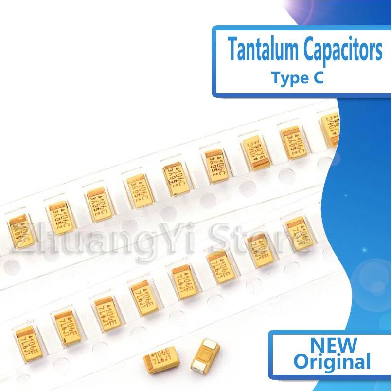 10 шт./лот желтый AVX 6032 танталовый конденсатор с алюминиевой крышкой, 476C 16V47UF 47 мкФ 16v патч типа C