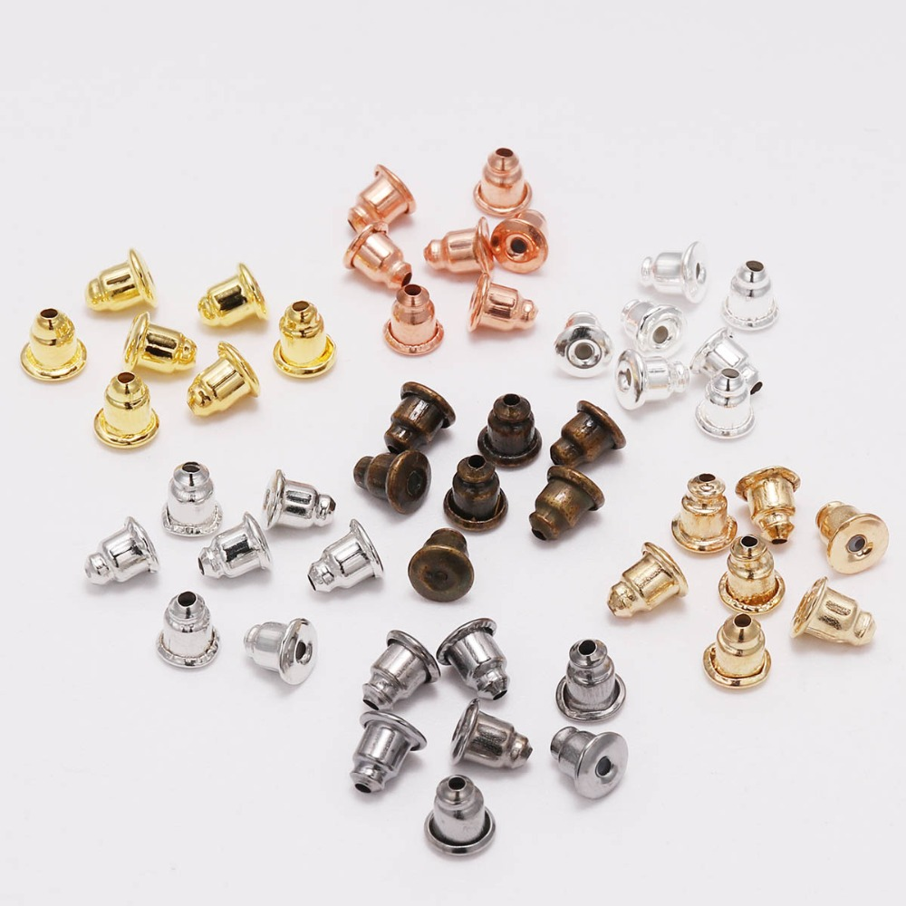 10pcs Clear Soft Silicone Bullet Earring Backs Stoppers Earnuts DIY Findings