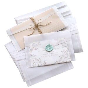 Image 5 - 50pcs Blank Doorschijnend Papier Envelop Vintage Enveloppen Voor Uitnodigingen Wedding Gift Card Envelop Postkaarten Brief Opbergtas