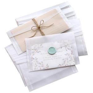 Image 5 - 50pcs Blank Translucent Paper Envelope Vintage Envelopes For Invitations Wedding Gift Card Envelope Postcards Letter Storage Bag