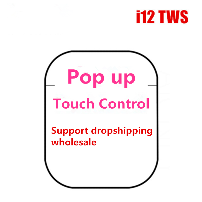 Magic music i12 Tws Wireless Bluetooth 5 0 Mini Earbuds Touch Control Earphones Headsets For Iphone Android