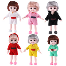Mini Girls Doll Realistic Durbale Simulation Baby BJD Doll Toy Movable Jointe Children