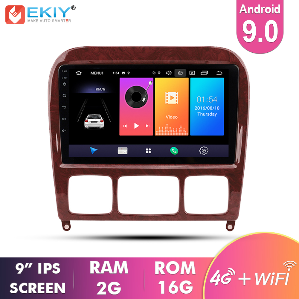 EKIY 9'' Car Multimedia Android 9.0 Auto Radio For Mercedes <font><b>Benz</b></font> S Class <font><b>W220</b></font> S280 S320 S350 S400 S430 <font><b>S500</b></font> S600 S55 1998-2005 image