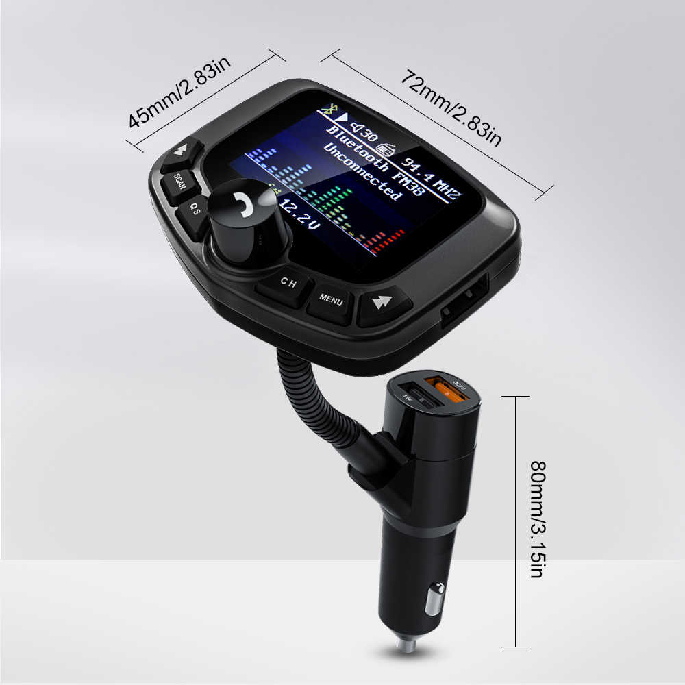 Đa Chức Năng Bluetooth Bluetooth Tansmitter Xe MP3 Người Chơi 5 V/2.4A Nhanh Hơn Sạc Dual USB Trên Ô Tô bộ Phát FM