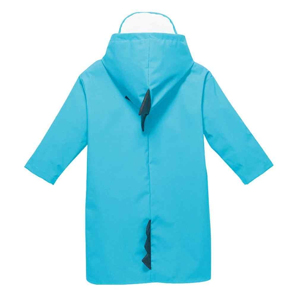 เด็กสีฟ้า Creative raincoat การ์ตูนไดโนเสาร์เสื้อกันฝนเสื้อกันฝนเด็กอนุบาลนักเรียน Rain Coat capa de chuva @ 30