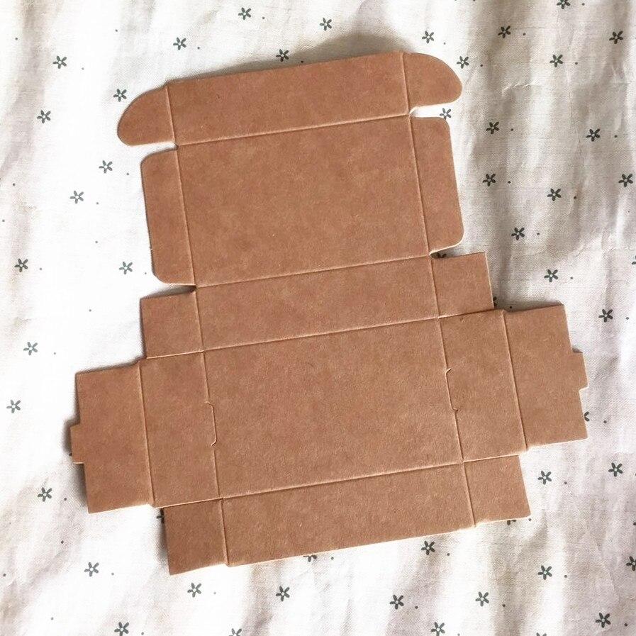100 pièces pas cher Kraft cadeau emballage carton boîte de papier, petit savon fait main naturel kraft artisanat boîte, kraft carton boîte de papier