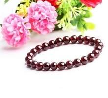 Bracelet en grenat naturel pour femmes, bijoux fins, avec certificat de livraison, cadeau