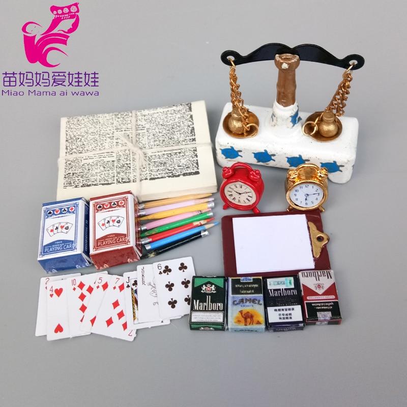 チャームタバコ再生カード供給アクセサリー鉛筆ドールハウスの装飾文房具 doll