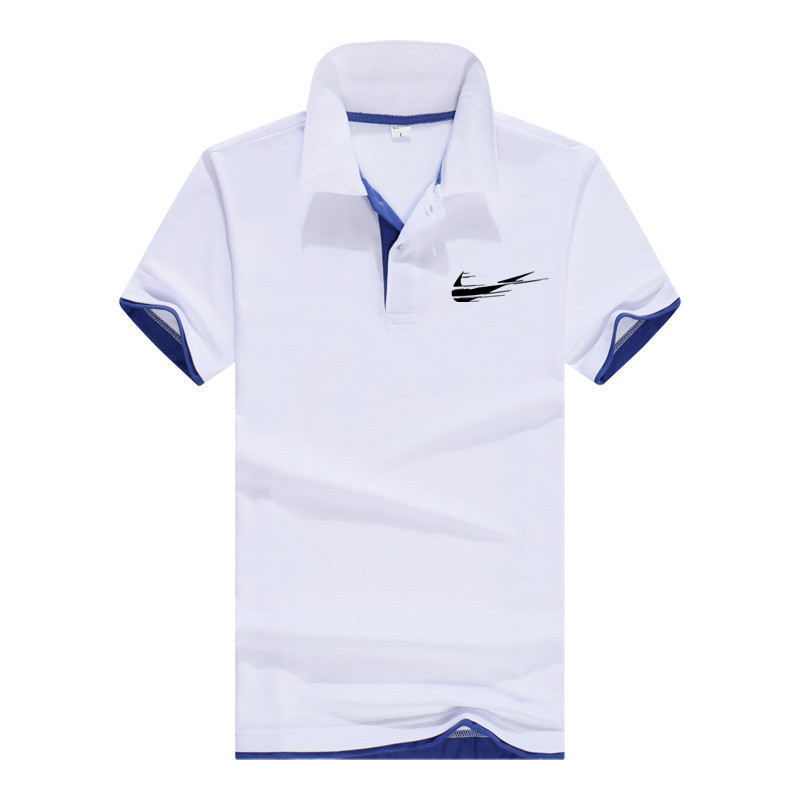 Men's Short Sleeve Pure Cotton Breathable Classic Printed Polo Shirt Sports T-Shirt 2021 Spring/Summer Newest