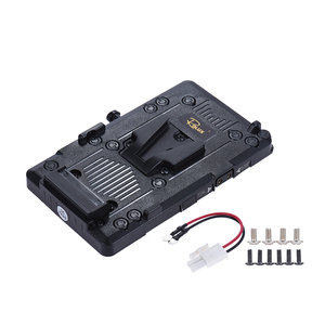 Rolux RL-IS2 V-mount Battery Plate V-lock DIY Power Supply Battery Plate for Sony BMCC BMPCC Camcorder Monitor LED Video Light