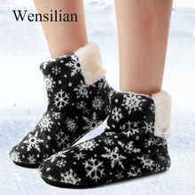 Home Womens Slippers Indoor House Fur Slides Fluffy Flip Flops Female Snowflake Winter Shoes Christmas Ladies Chaussures Femme