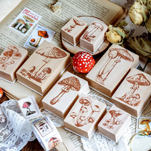 Vintage Mushroom series wood stamp DIY craft wooden rubber stamps for scrapbooking stationery standard