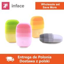 卸売 5 ピース/ロット 10 ピース/ロットinfaceスマートソニッククリーンな電気顔クリーニングマッサージブラシ