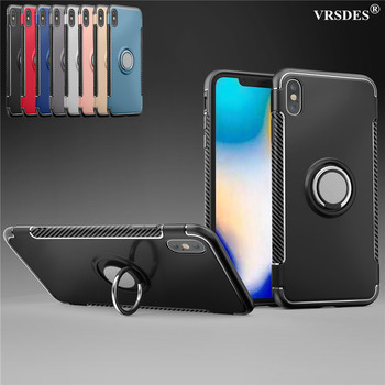 For iPhone XS MAX XR XS X 8 7 6 SE 2 SE 2020 Case Magnetic Car Holder Case For iPhone X XS XR 6 6S 7 8 Plus 5 5S SE Ring Cover image