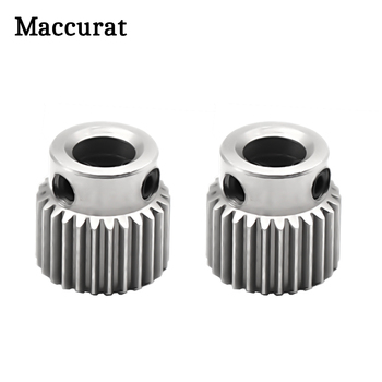 цена на 1pc MK8 Gear 36 Tooth Stainless Steel Bore 5MM MK8 Extruder Stepper Motor Pulley Extrusion Wheel Like MK7 For 3D Printers Parts