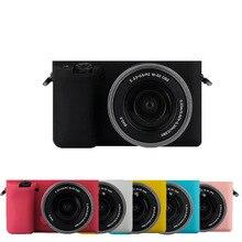 TENENELE กระเป๋ากล้องสำหรับ Sony A6000 นุ่มซิลิโคนสียางสำหรับ Sony A6000 ป้องกันร่างกาย