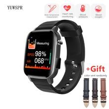 Opaska monitorująca aktywność fizyczną temperatura ciała tętno ciśnienie krwi tlen inteligentne zegarki dla starszych mężczyzn kobiety z ekg PPG SPO2 JY SP1