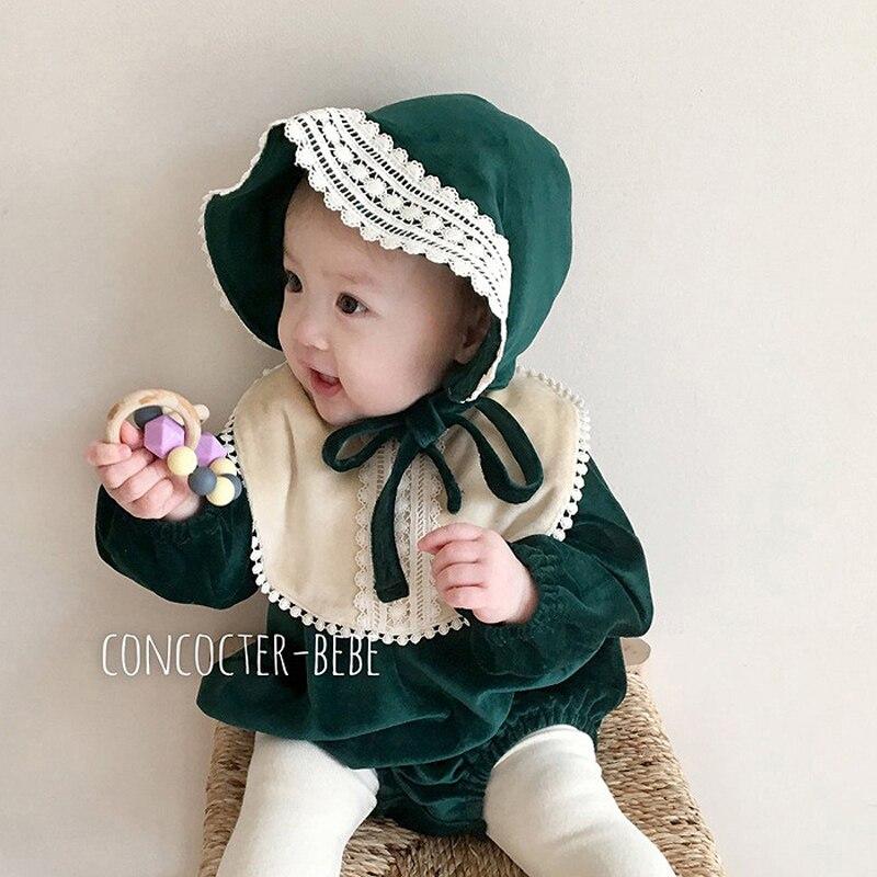 MILANCEL Baby Bodysuit Long Sleeve Baby Girls One Piece Spring Toddler Girls Clothes
