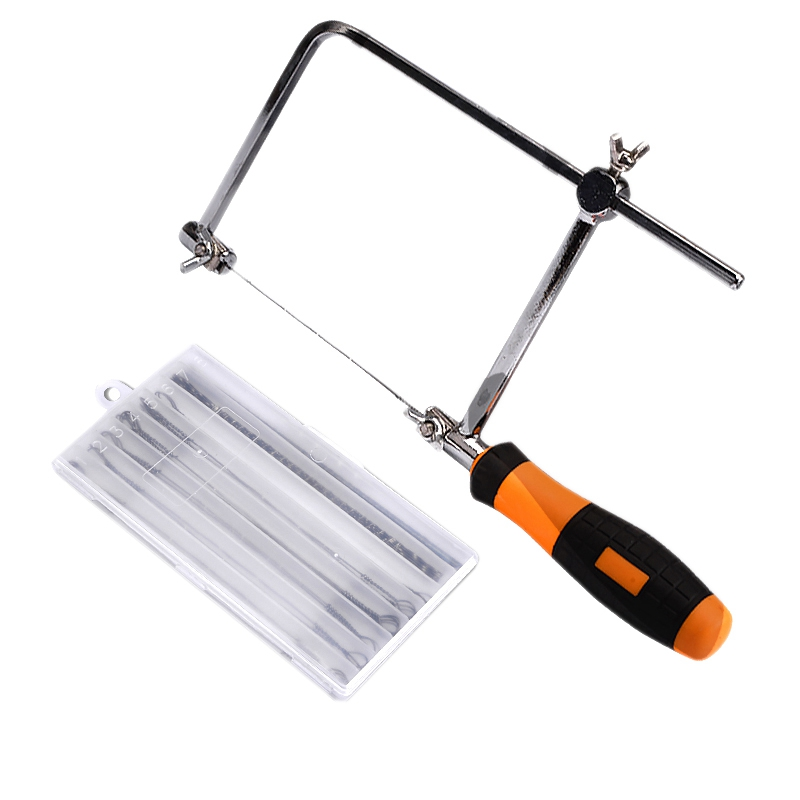 Steel Frame Coping Saw With 44Pcs Replacement Blades (62-105Mm Throat Depth)