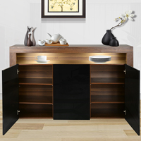 Modern Cabinets 3 Doors Multi functional Sideboards Cabinet Living Room Cabinet Kitchen Bowls And Chopsticks Storage Cabinets