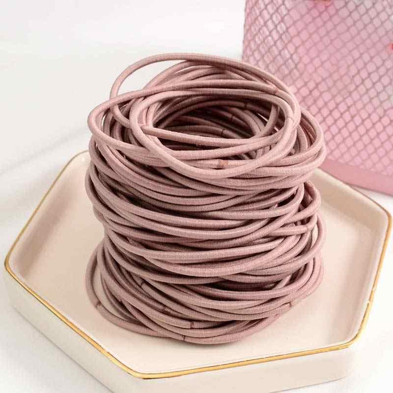 Лента для волос ободок для волос кольцо для девочек Женская эластичная веревка Хвостик Держатель 100 шт. Галстуки