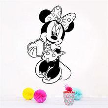 Disney minnie black 43x69 см наклейки на стену для детских комнат