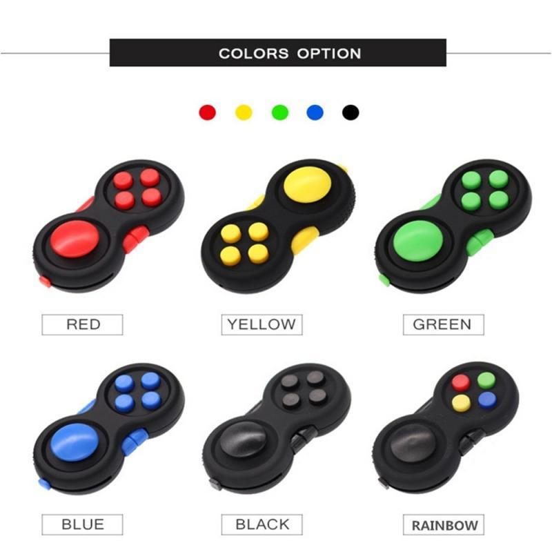 Toys Desk Puzzles Game Fidget-Pad-Stress Relief-Pressure-Toy Rainbow Magic 1PCS Toy-Handle img2