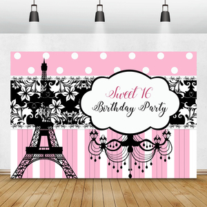 Image 5 - Laeacco Birthday Backdrops Paris Eiffel Tower Flowers Bike Customized Photography Backgrounds For Photo Studio Photophone Props