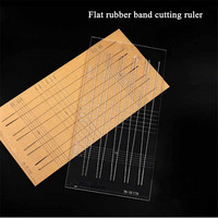 Slingshot Rubber Band Cutting Ruler Line Flat Catapult Hunting Tools Accessories