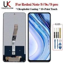תצוגה עבור Redmi הערה 9 9s 9 pro LCD & מסך מגע Digitizer תיקון LCD עבור Redmi הערה 9 תצוגה עבור Redmi הערה 9 פרו הערה 9s