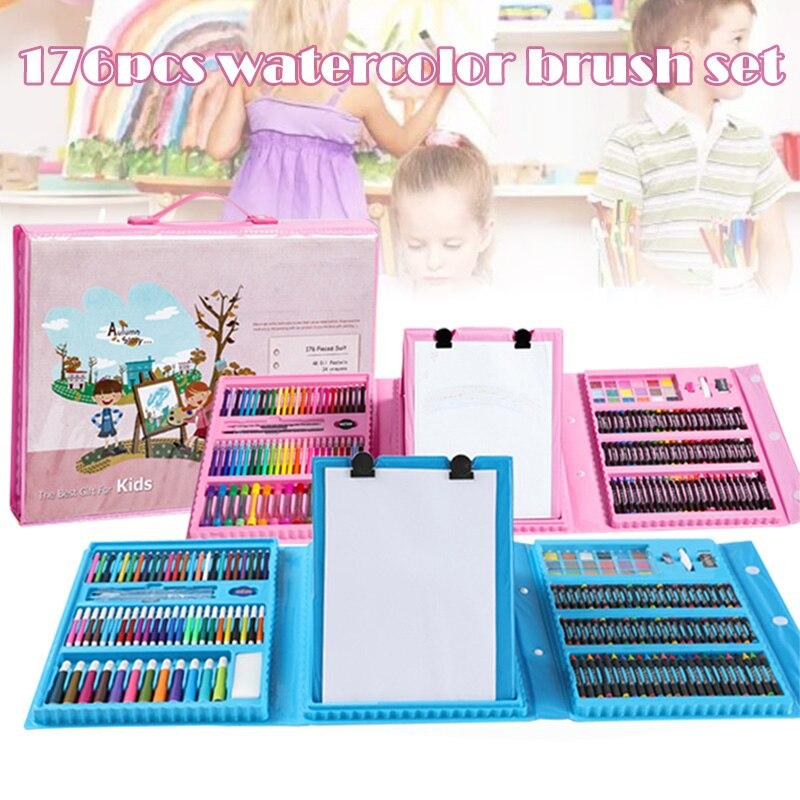 176 pcs set kit escova de pintura pintura de graffiti arte dos miudos brinquedos de entretenimento