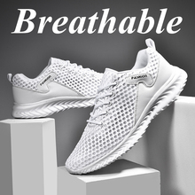 Men's Sneakers Hollow Large Size Running Sport Shoes
