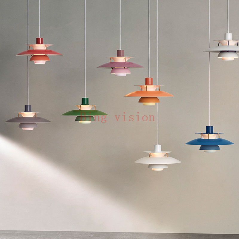 Hoge kwaliteit E27 Hanglamp Kleurrijke Paraplu Led Opschorten Lamp Eetkamer Led Hanglamp Led Lamparas Verlichtingsarmaturen - 6