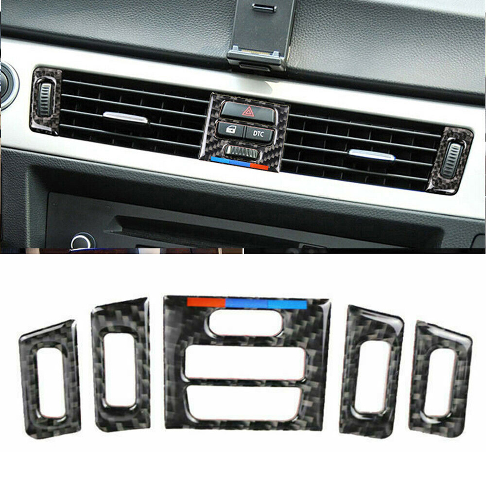 Carbon Fiber Inner Window Switch Cover Trim For BMW 3 Series E90 E92 E93 05-12